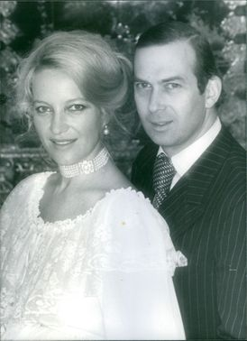 A royal photo of Prince Michael of Kent with wife Princess Michael of Kent. 1981