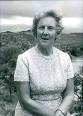 Portrait of Rhodesian personality Mrs. Garfield Todd, 1973.