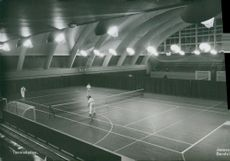 Sandviken. Tennis hall postcard