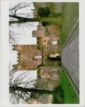 A view of entrance of Durham Castle.