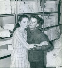 Two women photographed together.