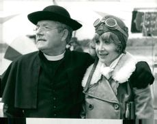 Kenneth More along with his wife Angela during a movie recording