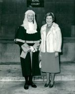 Judge Ian Stevenson with his wife margaret.