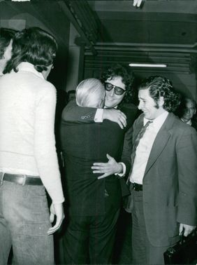 People meeting each other. 1973