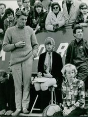 People emotionally watching a match going on.  Taken - Oct. 1965