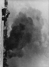 View of a burning area during war in Russia.  - 1942