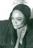 Eartha Kitt in Stockholm, close-up