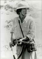 "Actress Meryl Streep in the movie ""My Africa"""