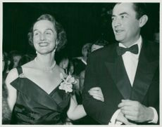 Gregory Peck with his tableman Countess Marianne Lewenhaupt