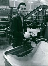 A man working in factory.