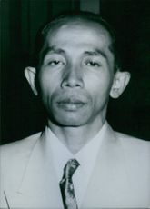 A portrait of Dr. Gunawan. Indonesian Politician Attorney General of the Republic of Indonesia.