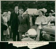 Royal Norfolk Show: The King and Queen, with Princess Margaret