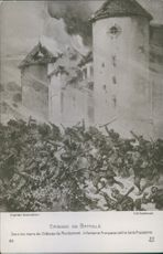 Under the walls of the castle mondemont, French infantry against Prussian Guards.