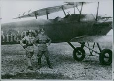 Red Cross ambulance pilots during the Second Italo-Abyssinian War 1935-36.