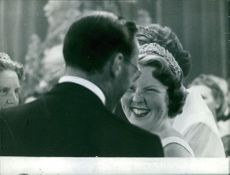 Princess Beatrix of the Netherlands smiling.