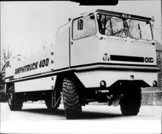 "The German-made amphibious ""Amphitruck 400""."