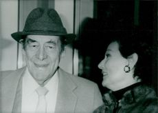 Rex Harrison along with his wife Mercia Tinker