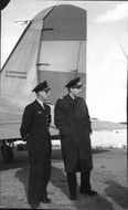 On the picture, the air traffic controller at Kallax Airport, Lieutenant Rosborg,