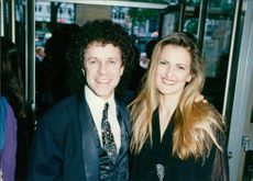 Leo Sayer Singer-songwriter with his friend.