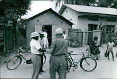U.S. officers reaching out to locals.