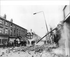 House was set on fire during the riots of Toxteth in Liverpool.