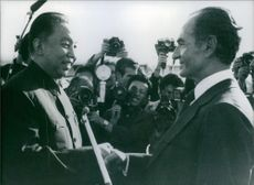 A photo of Shah & Chairman Hua - 1978