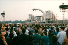 Audience at The Rolling Stones concert at Longchamp