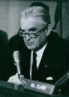 Photograph of Stuart Symington. Democratic United States Senator from Missouri from 1953 to 1976.