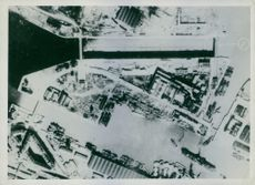 St. Nazaire before the attack showing the lock gate in position.