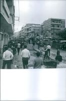 People in Lebanon in an outraged during Lebanon Civil war.