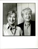 Actress Meryl Streep and author Frank McCourt