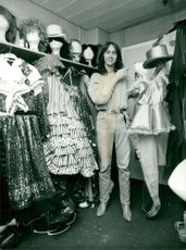 Christer Lindarw shows her stage clothes