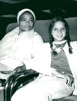 Eartha Kitt with her eleven-year-old daughter