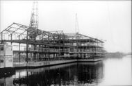 A Docklands building under construction. Girders Isle of Dogs