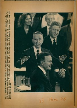 George Walker Bush with Ross Perot and Bill Cinton.