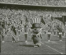 OS Mascot during the opening ceremony at the Summer Olympics in Atlanta.