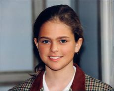 Portrait of the 12-year-old Princess Madeleine.