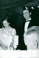 Princess Margriet of the Netherlands together with a man.