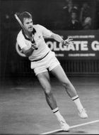 Tennis player Wojtek Fibak in action