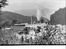The paper industry in Niestal near the border with the GDR