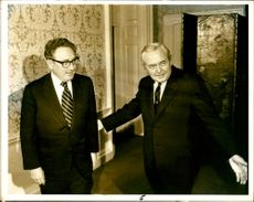 Dr. Henry Kissinger with Mr Wilson.