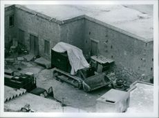 In the backyards of the hill village of Ktima armoured bulldozers are spotted from a British army helicopter.
