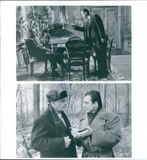 Two scenes from the film Hoffa.