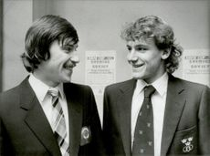 The tennis players Vadim Borisov and Mats Wilander are familiar with each other after the draw to the Davis Cup in 1982