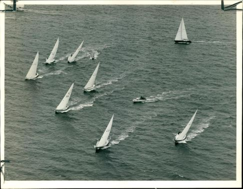 An aerial view of part of the Two Ton Cup.