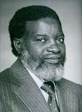 Namibian politician, Sam Nujoma, 1980.