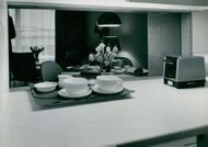 New floor hotel at Foresta. Image from the kitchen is a dining table for the living room dining table.