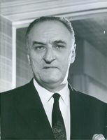 French politician Pierre Marcilhacy, 1965.