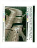 The 1994 Northridge earthquake USA:this is an aerial view state highway.