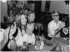 Leigh Taylor-Young with her friends.